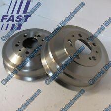 Fiat Ducato />99 2.5 TD Platform 4x4 91bhp Rear Brake Drums Pair Kit 254mm TRW S