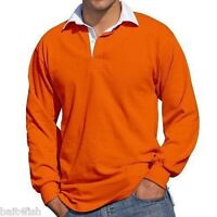 QUALITY MEN'S FRONT ROW RUGBY SHIRT LONG SLEEVED 4 COLOURS, S, M, L, XL, XXL