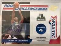 WESLEY JOHNSON 2010-11 Panini Season Update ROOKIE CHALLENGE SP RC AUTO 24/49