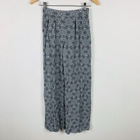 Forever New Womens Pants Size 4 Retro Black White Wide Leg Good Condition