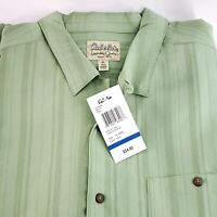 Cabelas Twin Lakes Short Sleeve Button Up Shirt Yucca Leaf Green Mens XL NWT