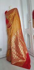 ❤️ INDIAN ASIAN BRIDAL BANARASI SILK ORIGINAL KATAN KATHAN SAREE/SARI
