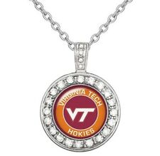 Virginia Tech Hokies Womens Sterling Silver Necklace College Football Gift D18