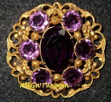 Ricarde of Hollywood Juarez 'Amethyst' Brooch Pin ~VERY RARE!! FREE SHIP!