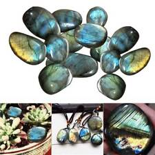 Natural Crystal Moonstone Raw Gemstone Ornament Polished Quartz Labradorite