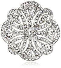 Antique 1920s Art Deco Brooch | Vintage Style 1928 Art Nouveau Crystal Pin | NEW