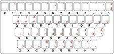Aufkleber sticker tastatur buchstaben kroatische slowenische serbische bosnische