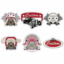 CUSTOM HOT ROD Laminated Sticker Set Vintage Retro Car Classic Rat Toolbox Decal