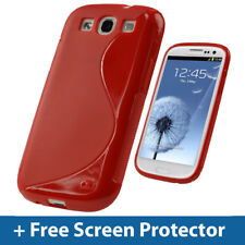 Red Dual Tone TPU Gel Case for Samsung Galaxy S3 III i9300 Android Cover Skin