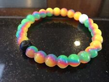 LGBT Silicone Charm Bracelets Neon Rainbow Flag Pride Gay Lesbian Love Bisexual
