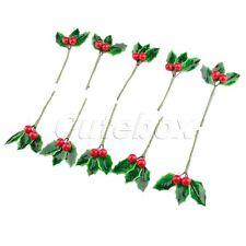 Christmas Artificial Fruit Flower Leaves Mini DIY Berries Party Decoration 10X