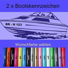 2 Stück Bootskennzeichen -  Nummer Boot Name Kennzeichen Aufkleber Beschriftung