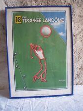 LITHOGRAPHIE PETER KLASEN ( 1935 ) - TROPHEE LANCOME 1987- TENNIS