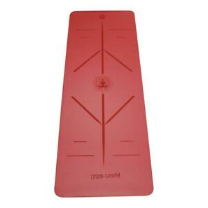 Yoga World Alignment Yoga Mat - Non-Slip & Anti-Skid TPE Rubber Underside - Soft