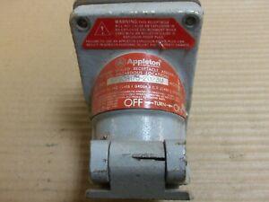 Appleton EFSCB175-2023M receptacle 20 amp 125 vac