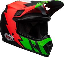 2020 Bell MX9 STRIKE Motocross MX Helmet MIPS Matte Infrared Green Black Adults