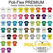 [25,00 €/m²] Flexfolie Textilfolie Bügelfolie Poli-Flex Premium ca. A4 (30x20cm)