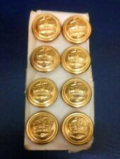 8X MERCHANT NAVY ALL METAL UNIFORM BUTTONS AS USED IN WW11 23 mm  NEW   No25A