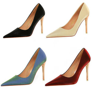 Womens Sexy Pointed Toe Stiletto Formal Shoes Ladies Super High Heel Party Shoes