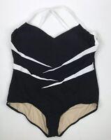Carol Wior Swimsuit Women Plus 28w Swim One Piece Bathing Suit Modest New Black