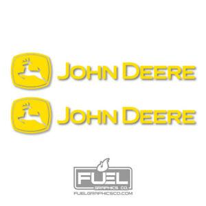 "John Deere Premium Vinyl Decal Sticker 2-Pack Yellow - 9"", 12"", 15"", 24"" or 36"""