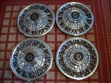 """1980 Mercury Cougar & 1981-82 Cougar XR-7   Set of Four 14"""" OEM Wire Hubcaps"""