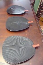 Lacquer trays, fan shaped, black, they were made for Lord & Taylor New York[*74]