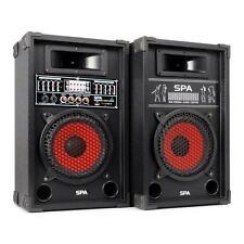"ALTAVOCES DJ PA ACTIVOS 20CM (8"") 600W BAFLE USB SD MP3 SPEAKERS DISCO -B-Stock"