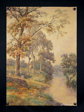 Édouard FRANÇOIS (1866-1924) Rare paysage impressionniste 75x54cm landscape