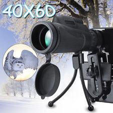 Mini Hd 40X60 Zoom Lente Ótica Telescópio Telefone Câmera Monocular + Clip + Tripé