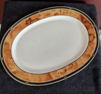 """Retroneu Fine China Serving Platter 14x10.5"""" Wood Garland 226"""