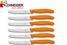 6x VICTORINOX - Tomatenmesser - Brötchenmesser - Küchenmesser - Orange