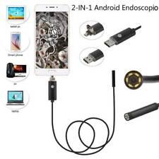 TELECAMERA ISPEZIONE ENDOSCOPICA MICRO USB PER ANDROID CON FUNZIONE OTG 5MT