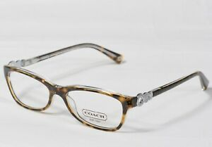NEW COACH HC6014 5049 Elise TORT CRYSTAL EYEGLASSES 50[]15-135 #648