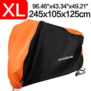 XL Motorcycle Motorbike Scooter Cover Waterproof Outdoor Rain Dust UV Protector