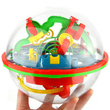 3D Spherical Maze Intellect Ball Balance Game Puzzle Kids Toy (75 Barriers)