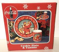 Enesco COCA-COLA Collectible Cookies for Santa Plate Mug Set Christmas Coke Gift