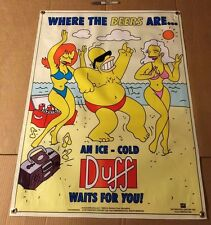 THE SIMPSON BANNER DUFF BEER TOY POSTER FIGURE MOVIE BAR EQUIPMENT LIQUOR CAN