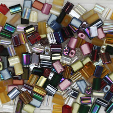 Czech Glass Nibblette Tile Bead Mix 5x3mm Flat Assorted Colors & Finishes pk/200