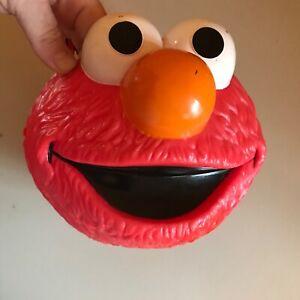 Adorable Sesame Street ELMO HALLOWEEN TRUCK OR TREAT BUCKET SO CUTE!! (Tub Q)