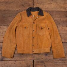 Levis True Vintage Shorthorn Cowhide 1950's Suede Leather Jacket. Womens S R2788