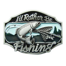 Men Buckle Rather Be Fishing Fish Belt Buckle Gürtelschnalle also Stock in US