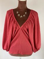 Zara Balloon Sleeves Elegant   Boho Casual Work Chic Blouse Top Shirt Size S