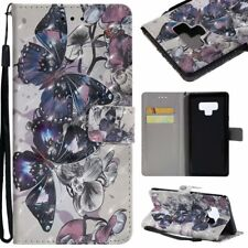 butterfly 3D wallet Leather case strap for iphone X 8 7 Samsung Note 9 S8 S9 LG