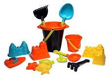 Kids Sand Toys Set for Building on Beach or in Sandbox: Buckets, Tools, Molds, T