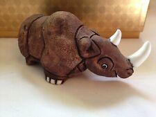 Vintage Casals of Peru Ceramic Rhinoceros Very Detailed Rhino