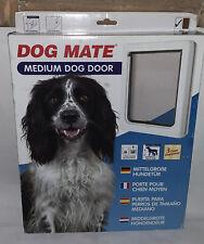 Dog Mate Medium Pet 2 way Locking Door White