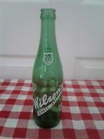 VINTAGE Wilson's Fine Beverages Green Soda Bottle