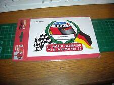 ADESIVO VINTAGE STICKER michael schumacher collection f1 world champion 94 95