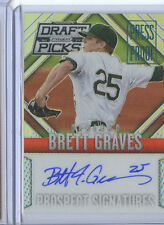 BRETT GRAVES PRESS PROOF RC AUTO 40/199 2014 PRIZM DRAFT